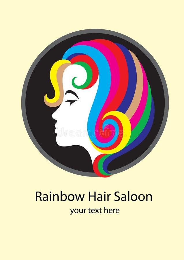 Logotipo del salón stock de ilustración