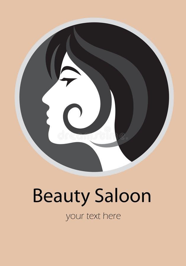Logotipo del salón de la belleza stock de ilustración