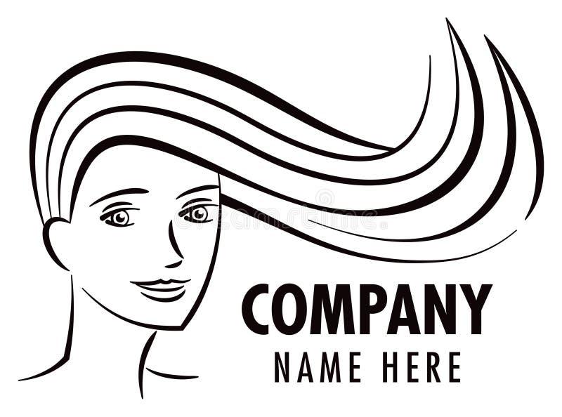 Logotipo del salón de pelo stock de ilustración