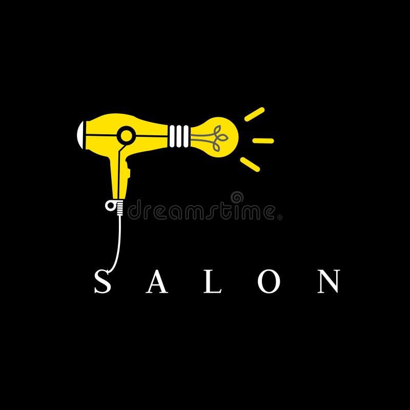 Logotipo del salón del peluquero Logotipo creativo del estilista ilustración del vector