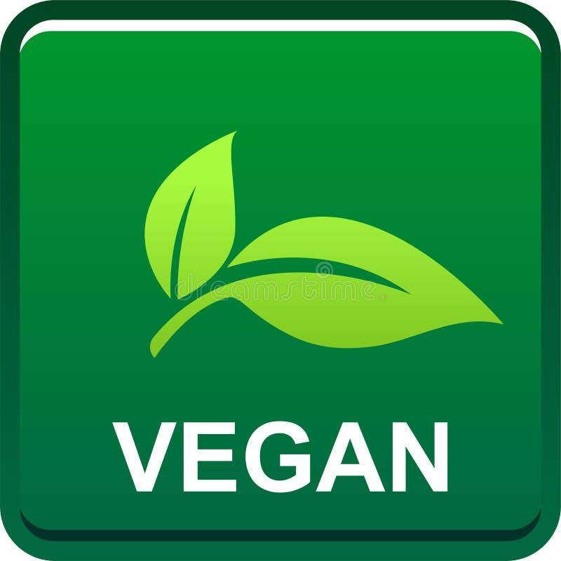 Logotipo del sello del sello de la comida del vegano libre illustration