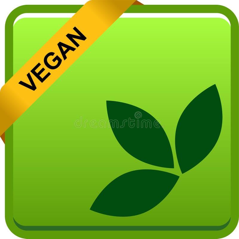 Logotipo del sello del sello de la comida del vegano stock de ilustración