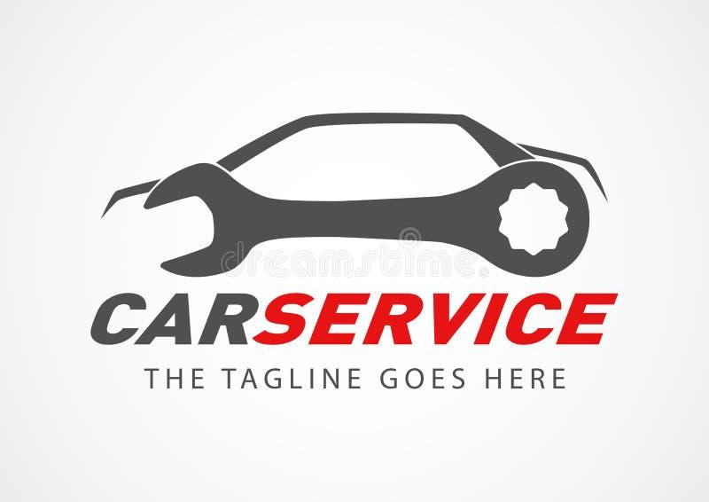 Logotipo del servicio del coche libre illustration