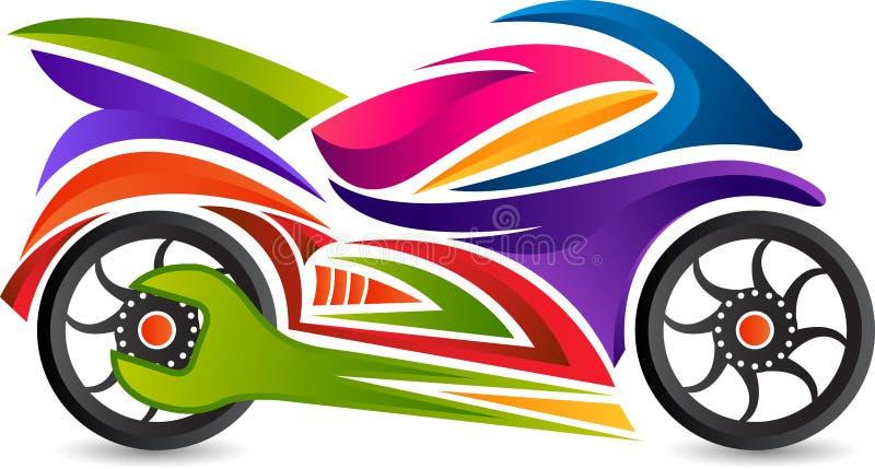 Logotipo del servicio de la bici stock de ilustración