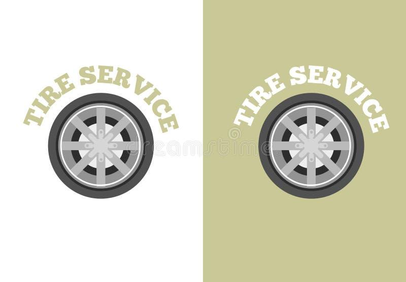 Logotipo del servicio del neumático de automóvil stock de ilustración