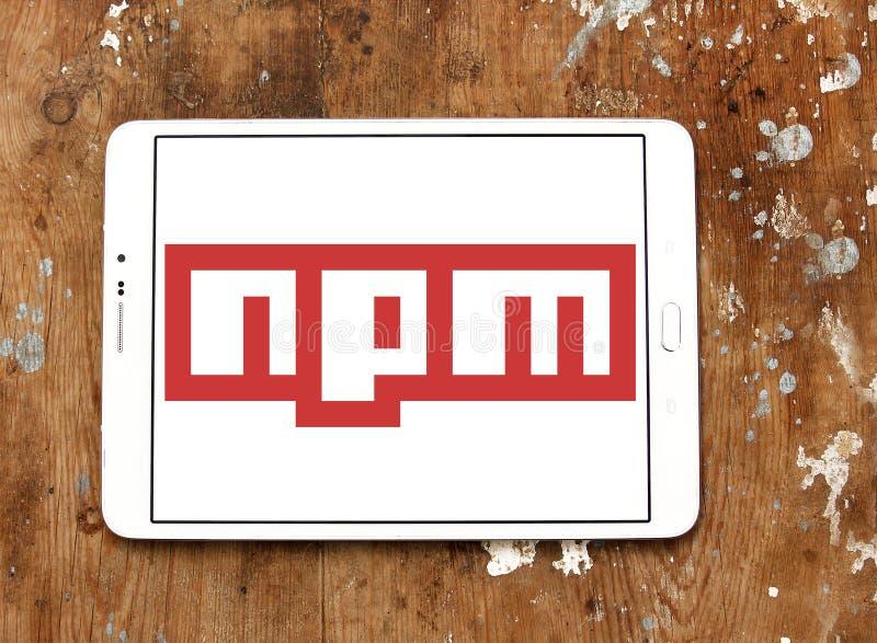 Logotipo del software de Npm fotografía de archivo libre de regalías
