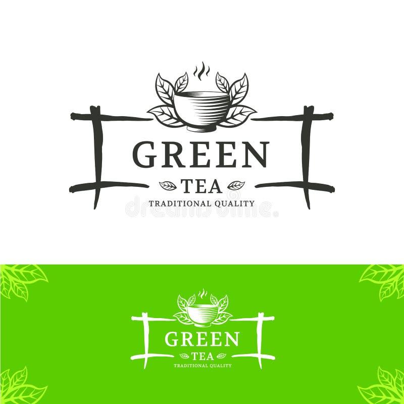 Logotipo del té stock de ilustración
