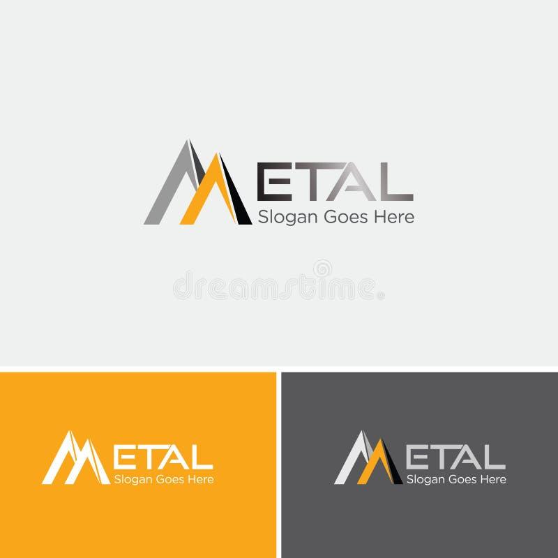 Logotipo del tejado del metal ilustración del vector