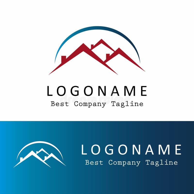 Logotipo del tejado y del elemento de la casa fotografía de archivo