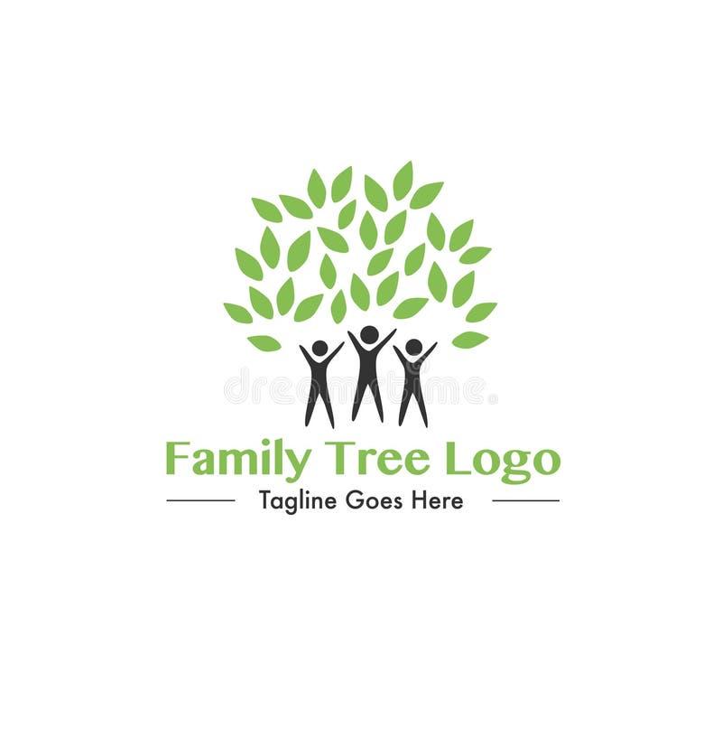 Logotipo del texto del árbol de familia fotografía de archivo libre de regalías