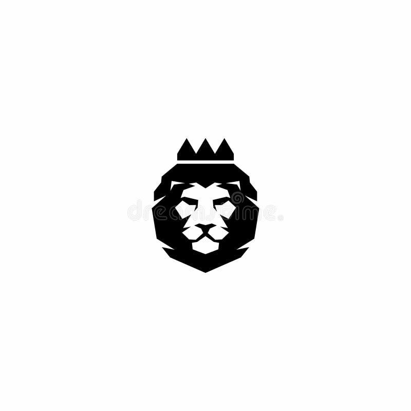 Logotipo del tigre del rey stock de ilustración