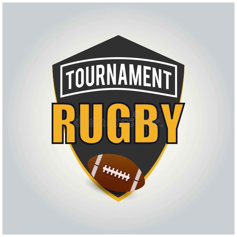 Logotipo del torneo del rugbi, americano Logo Sport ilustración del vector