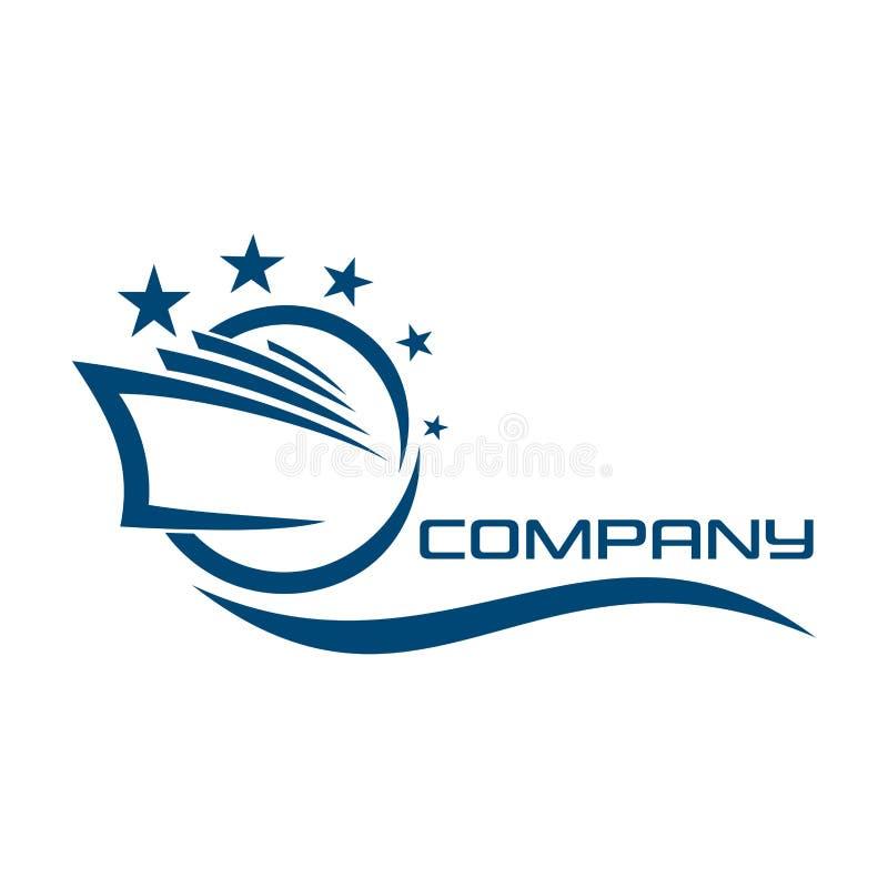 Logotipo del trazador de líneas de la travesía Ilustración del vector libre illustration