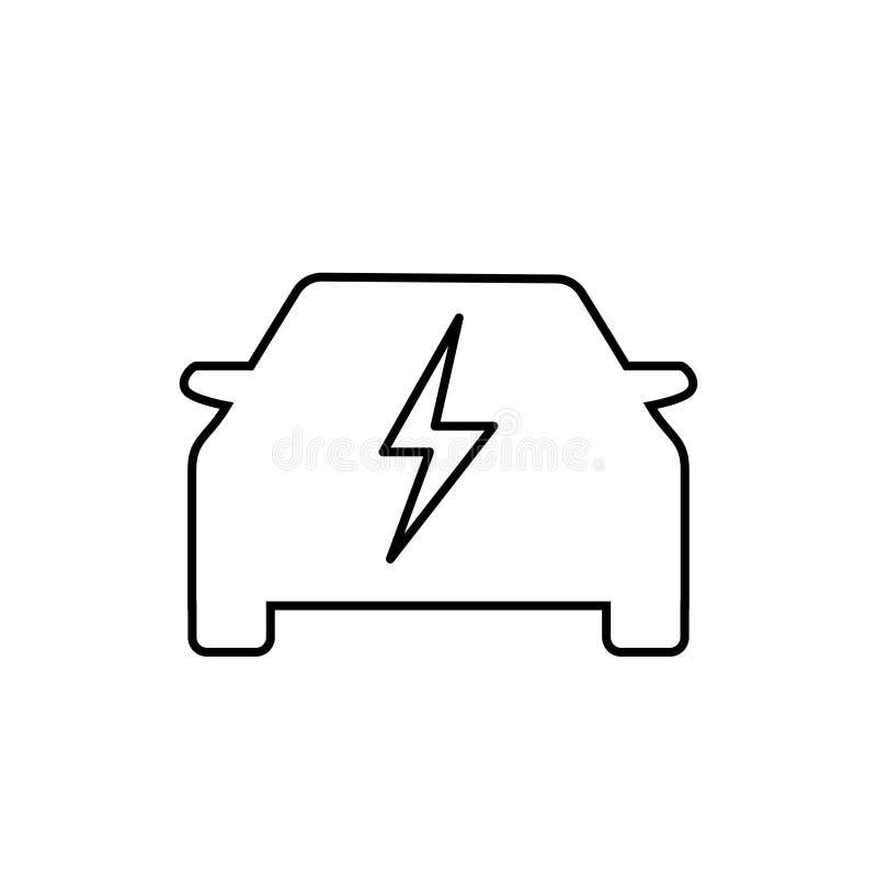 Logotipo del vector cero eléctrico del coche de la emisión ilustración del vector