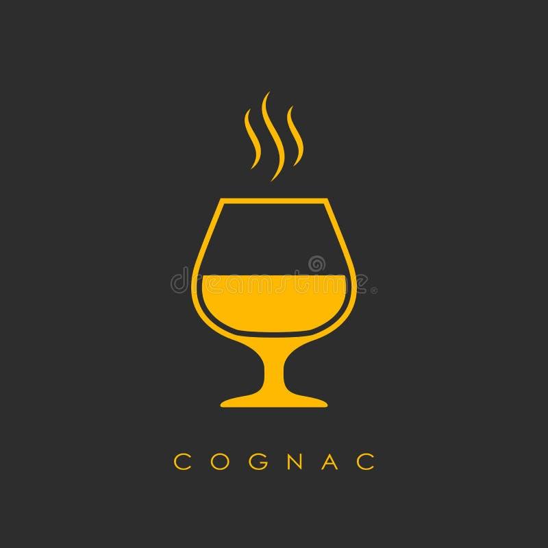 Logotipo del vector del coñac libre illustration