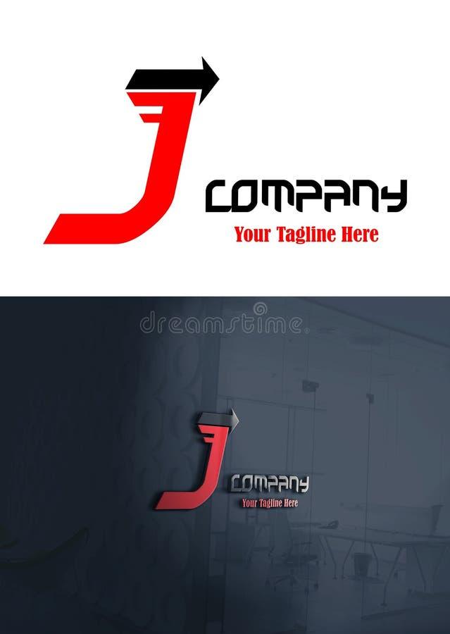 Logotipo del vector del concepto de la letra J ilustración del vector