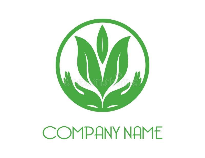 Logotipo del vector de la ecología en el fondo blanco libre illustration