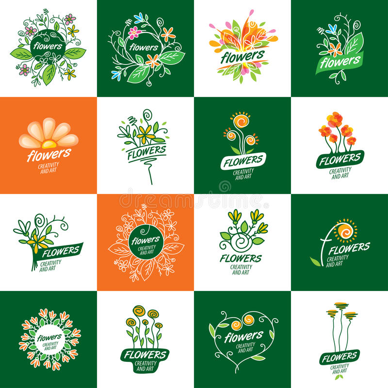 Logotipo del vector de la flor libre illustration