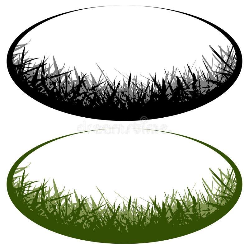 Logotipo del vector de la hierba stock de ilustración