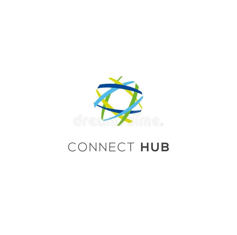 Logotipo del vector de la jerarquía ilustración del vector
