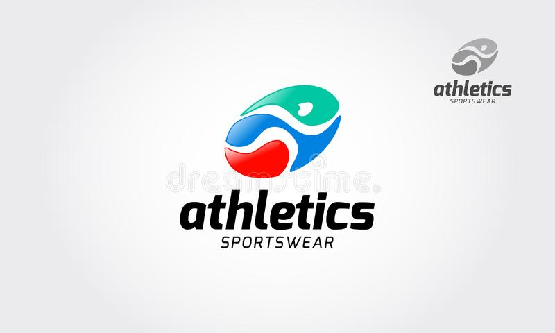 Logotipo del vector de la ropa de deportes del atletismo ilustración del vector