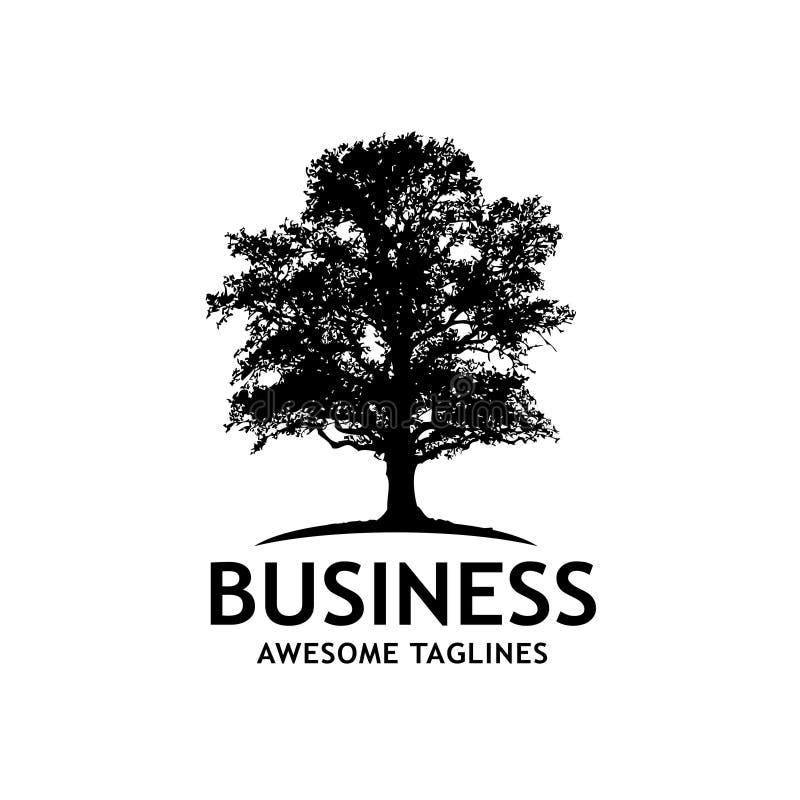 Logotipo del vector de la silueta del árbol ilustración del vector