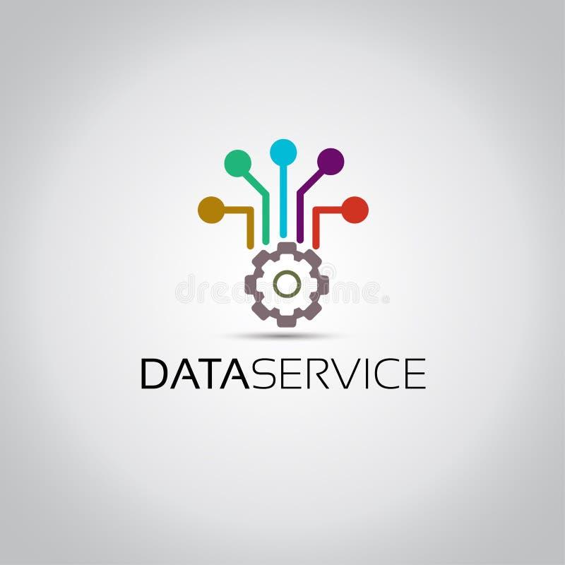 Logotipo del vector de Servive de los datos stock de ilustración