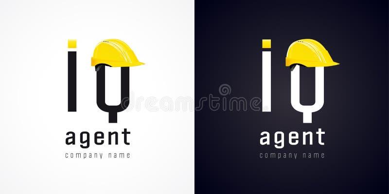 Logotipo del vector del agente del índice de inteligencia libre illustration