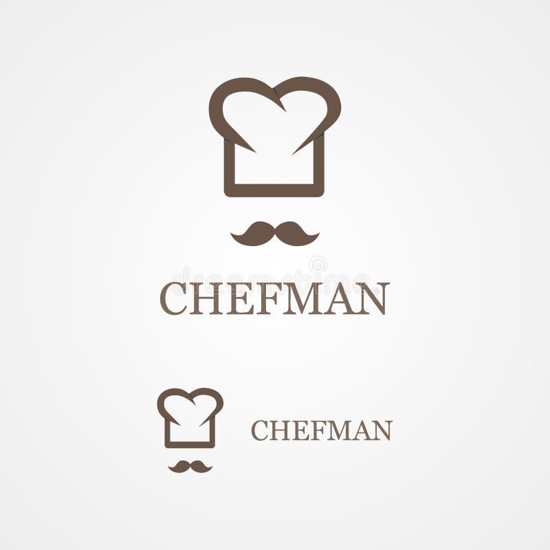 Logotipo del vector del cocinero creativo libre illustration