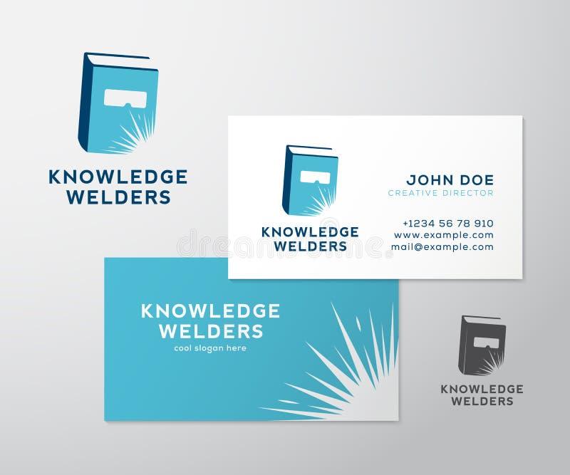 Logotipo del vector del extracto de la educación de los soldadores del conocimiento ilustración del vector