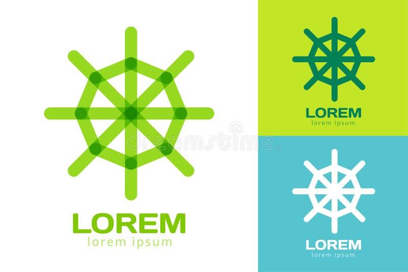 Logotipo del vector del icono de la navegación del timón nearsighted libre illustration