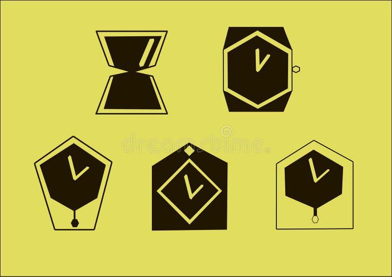 Logotipo del vector del reloj fotos de archivo libres de regalías