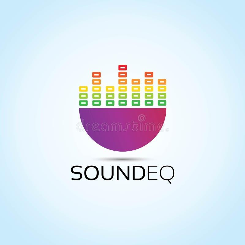 Logotipo del vector del equalizador de los sonidos stock de ilustración