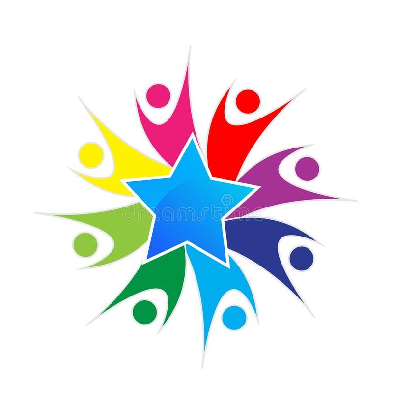 Logotipo del vector del equipo de la estrella libre illustration
