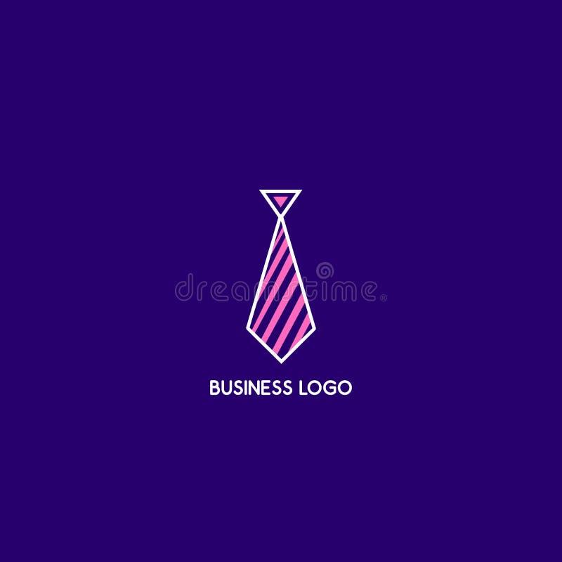 Logotipo del vector del lazo Logotipo del negocio Icono plano del esquema fotos de archivo