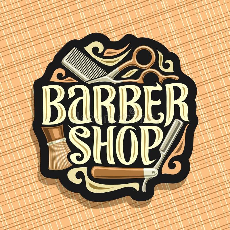 Logotipo del vector para Barber Shop libre illustration