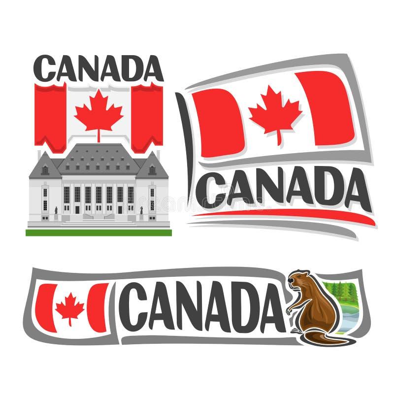 Logotipo del vector para Canadá libre illustration