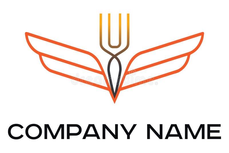 Logotipo del vector para el café y el restaurante ilustración del vector