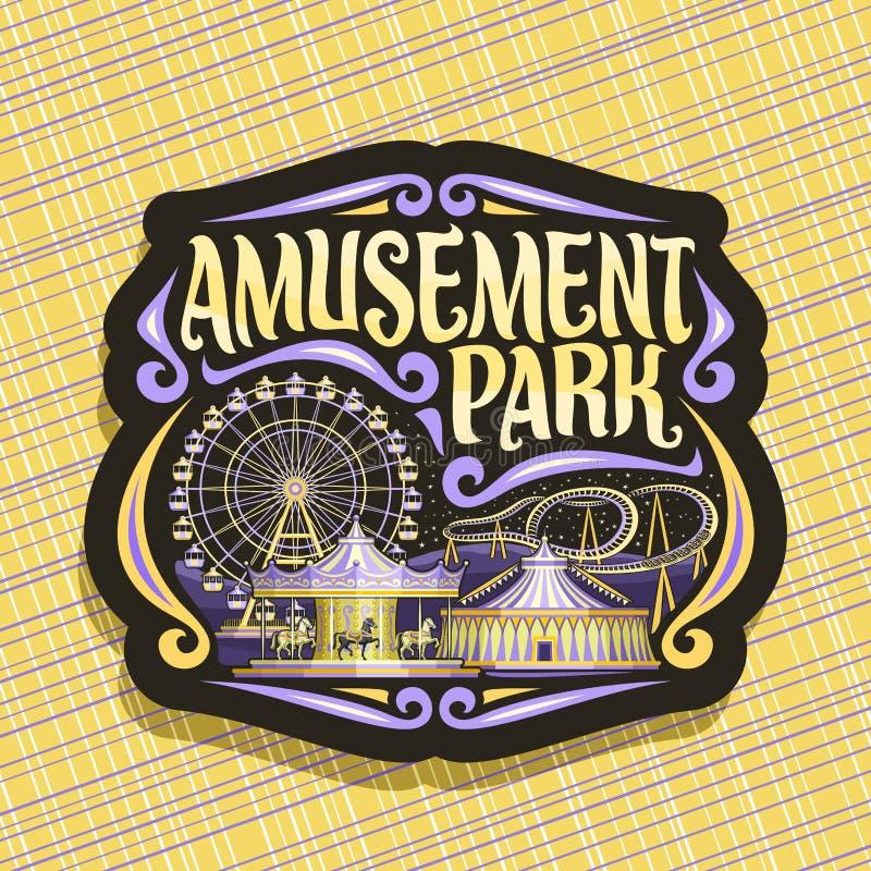 Logotipo del vector para el parque de atracciones ilustración del vector