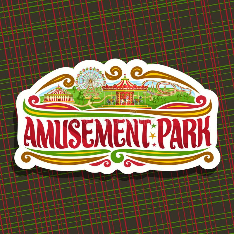 Logotipo del vector para el parque de atracciones stock de ilustración