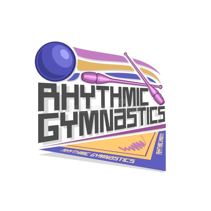 Logotipo del vector para la gimnasia rítmica stock de ilustración