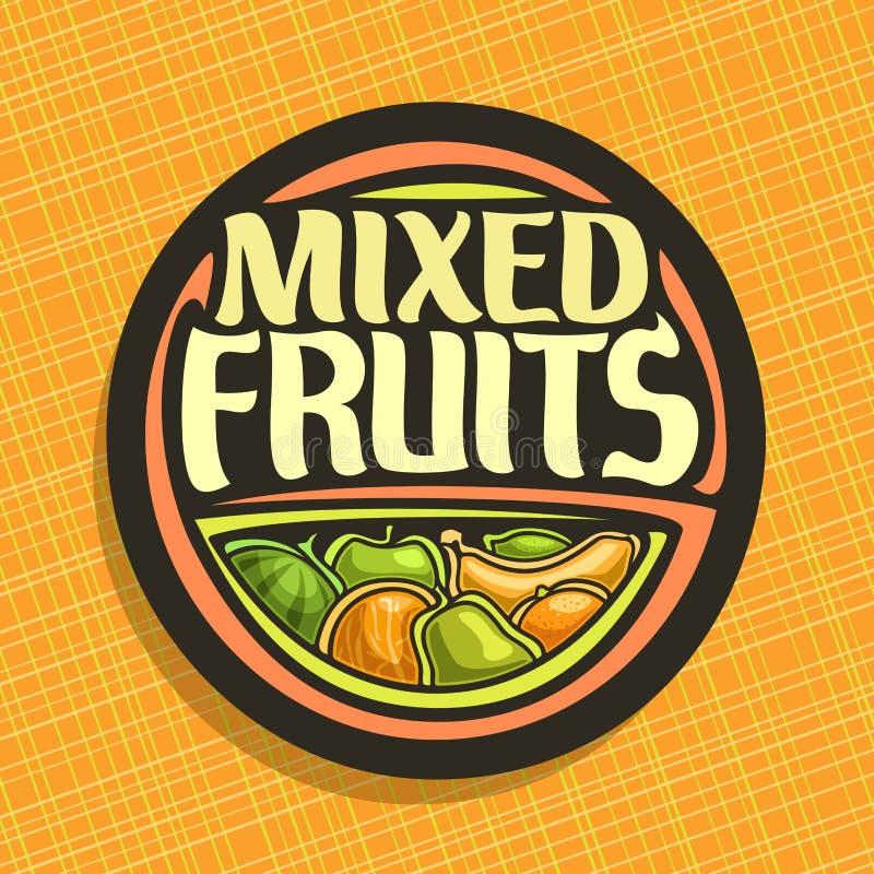Logotipo del vector para las frutas ilustración del vector
