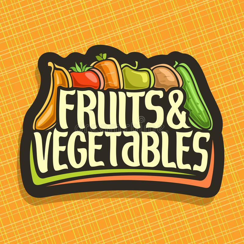 Logotipo del vector para las frutas y verduras ilustración del vector