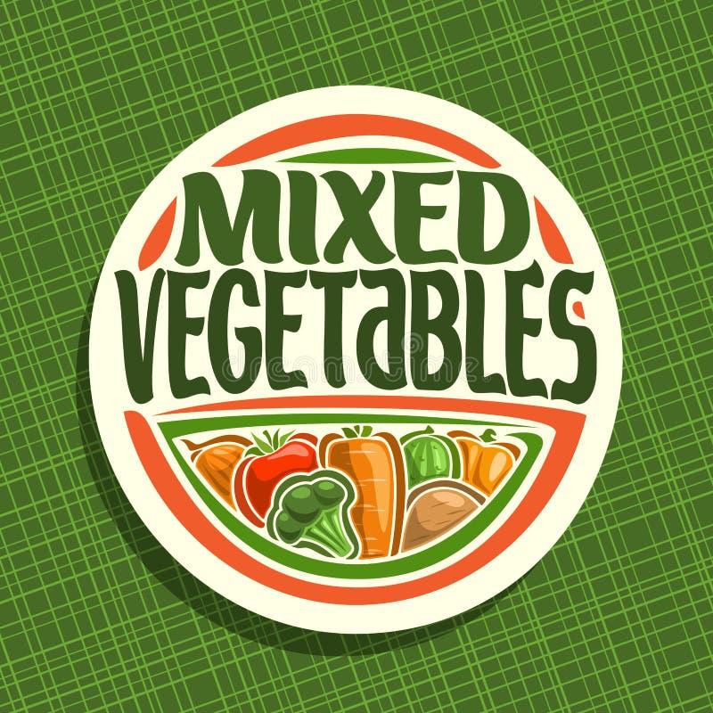 Logotipo del vector para las verduras libre illustration