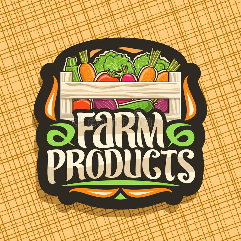 Logotipo del vector para los productos agr?colas libre illustration