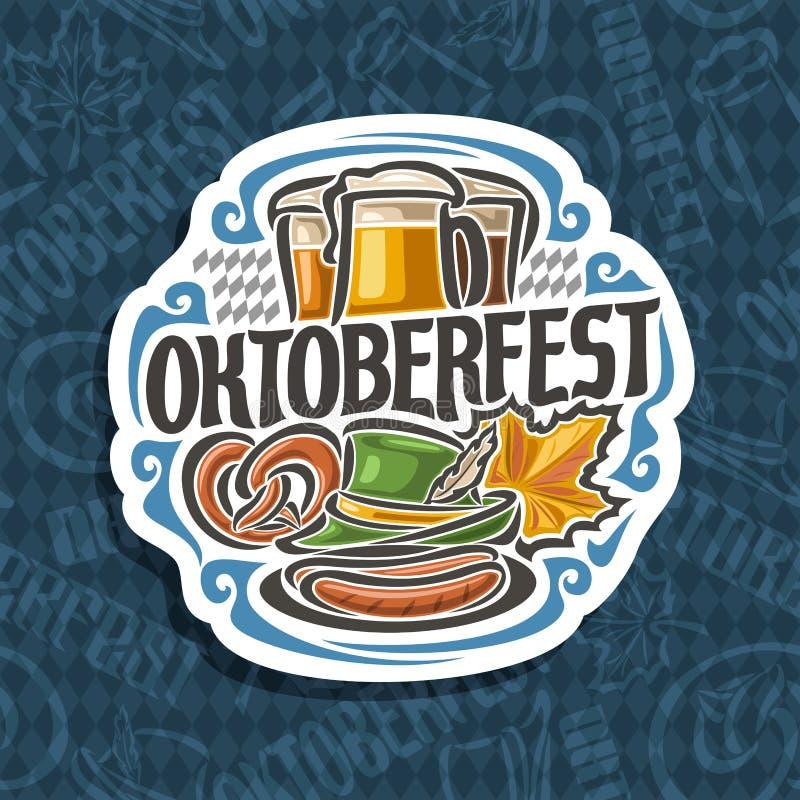 Logotipo del vector para Oktoberfest stock de ilustración