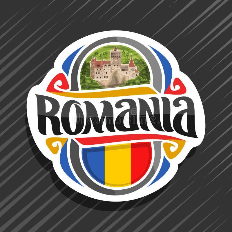 Logotipo del vector para Rumania stock de ilustración