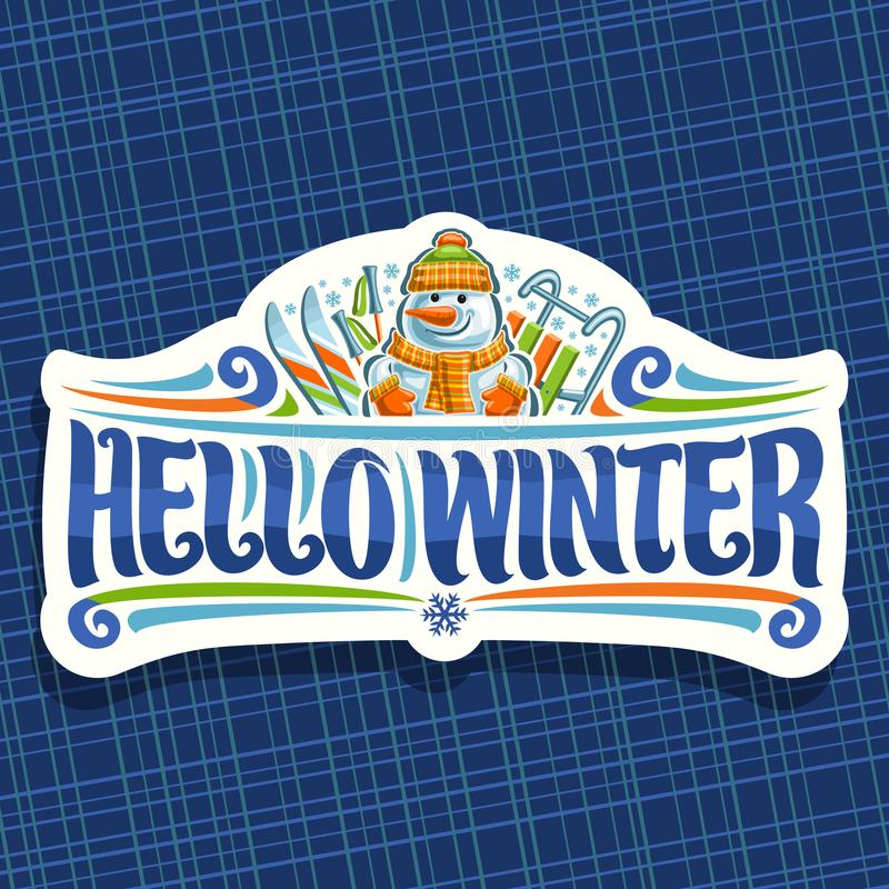 Logotipo del vector por vacaciones de invierno libre illustration