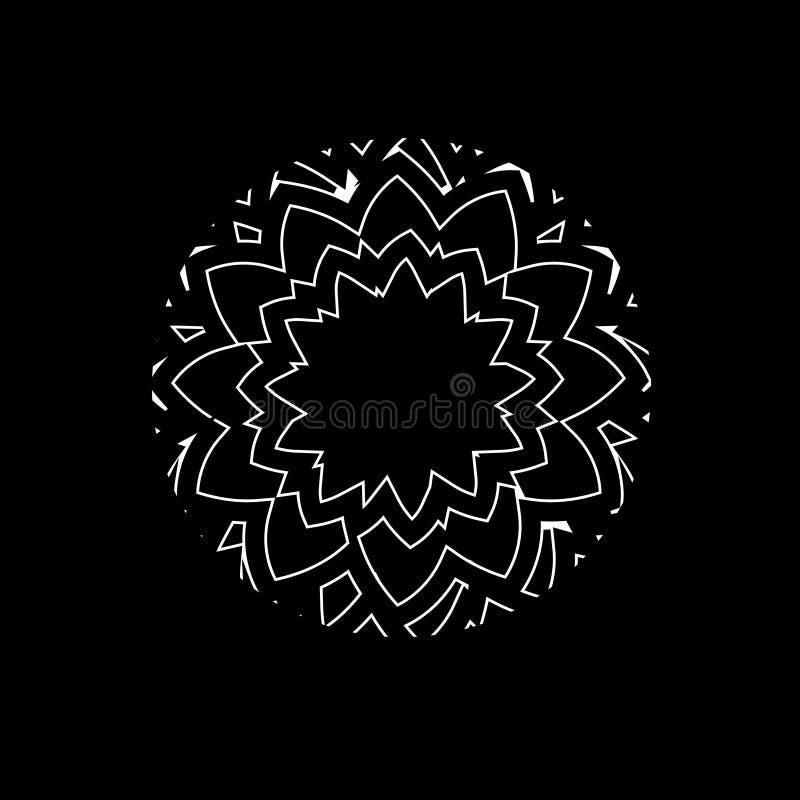 Logotipo del vector del rosetón Modelo 08 Elemento del diseño floral ilustración del vector