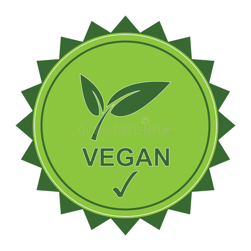 Logotipo del vegano ilustración del vector